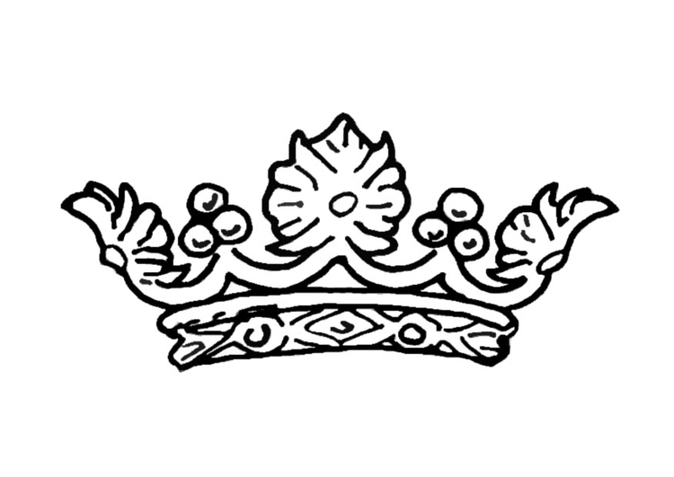 Coloring Page Queens Crown