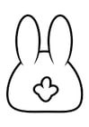 Coloring pages rabbit - back