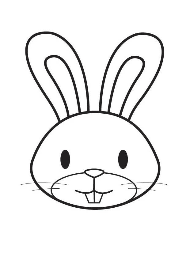 Coloring Page Rabbit Head Free Printable Coloring Pages