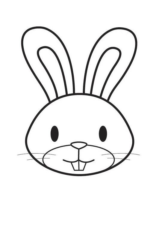 Coloring page Rabbit Head