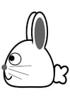 Coloring pages rabbit - side