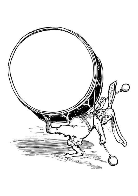 rabbit with drum