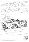 Coloring pages race car