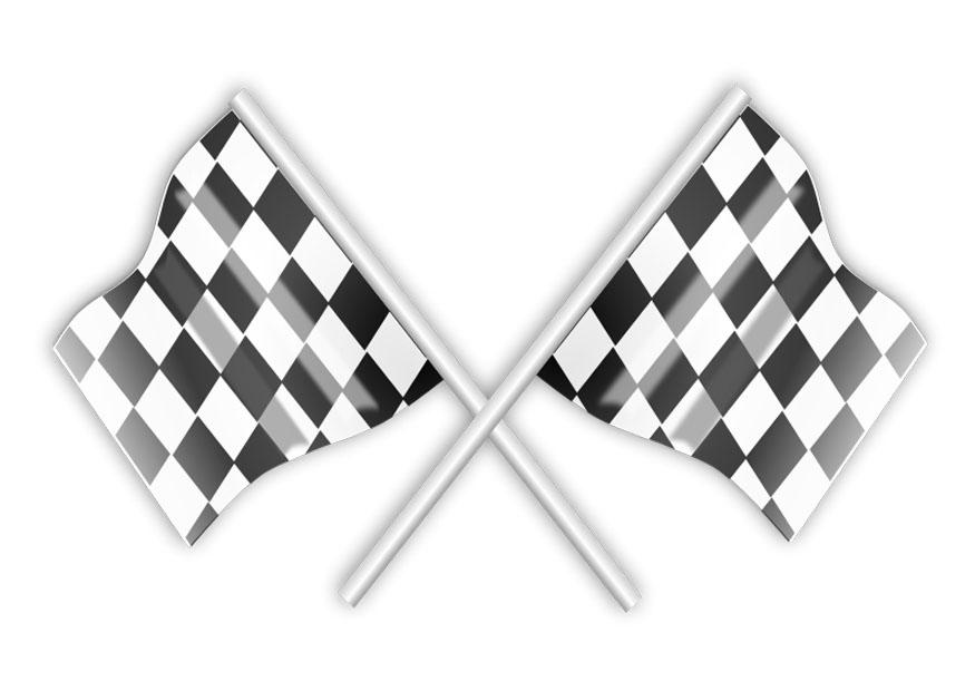 Coloring Page Race Flags