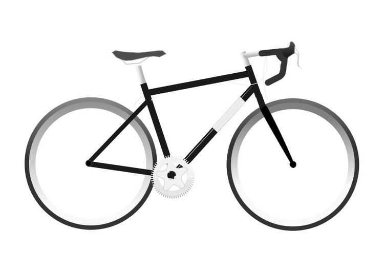 Coloring page racing bicycle