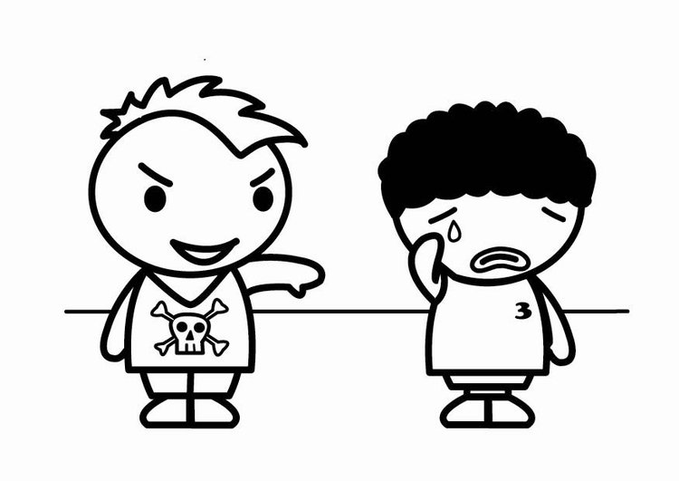 Coloring page racism