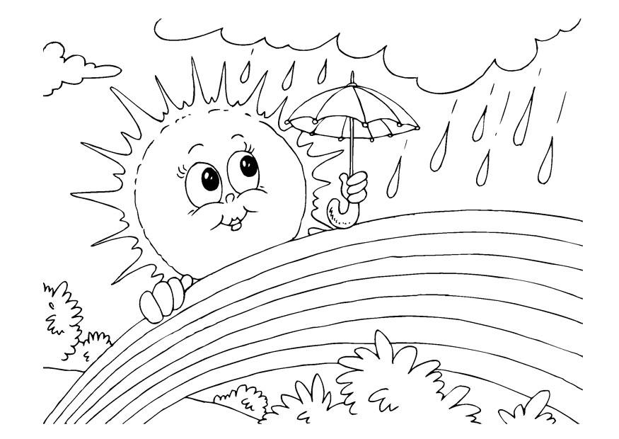 Coloring Page rainbow - free printable coloring pages