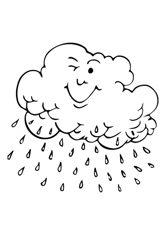 Coloring page raincloud