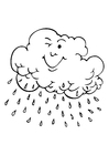 Coloring pages raincloud