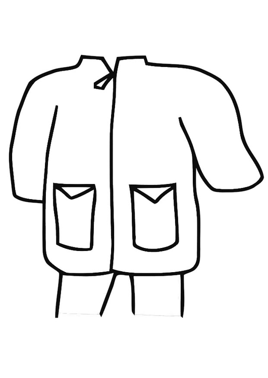 Coloring page raincoat - parka