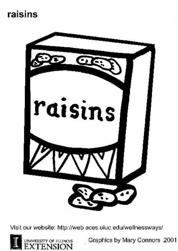 raisins coloring page coloring page raisins img 5892