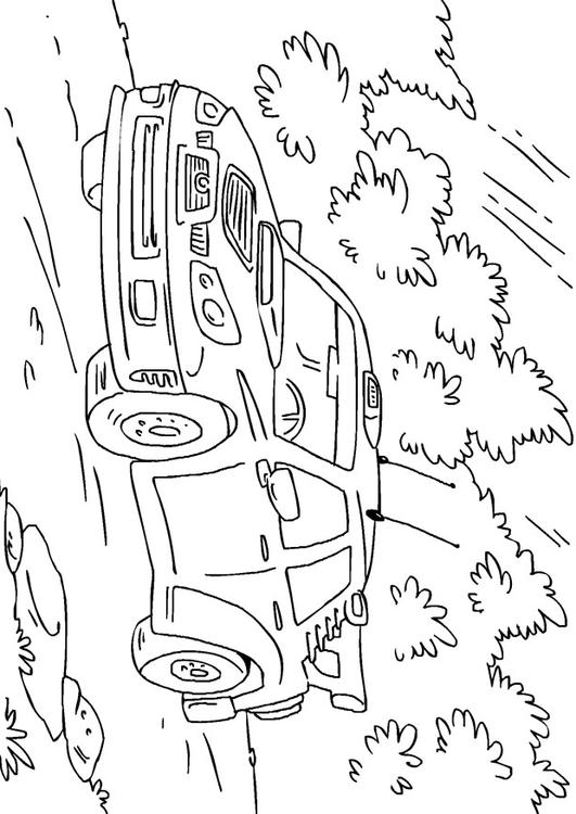 Coloring Page Rally Car Img 27170
