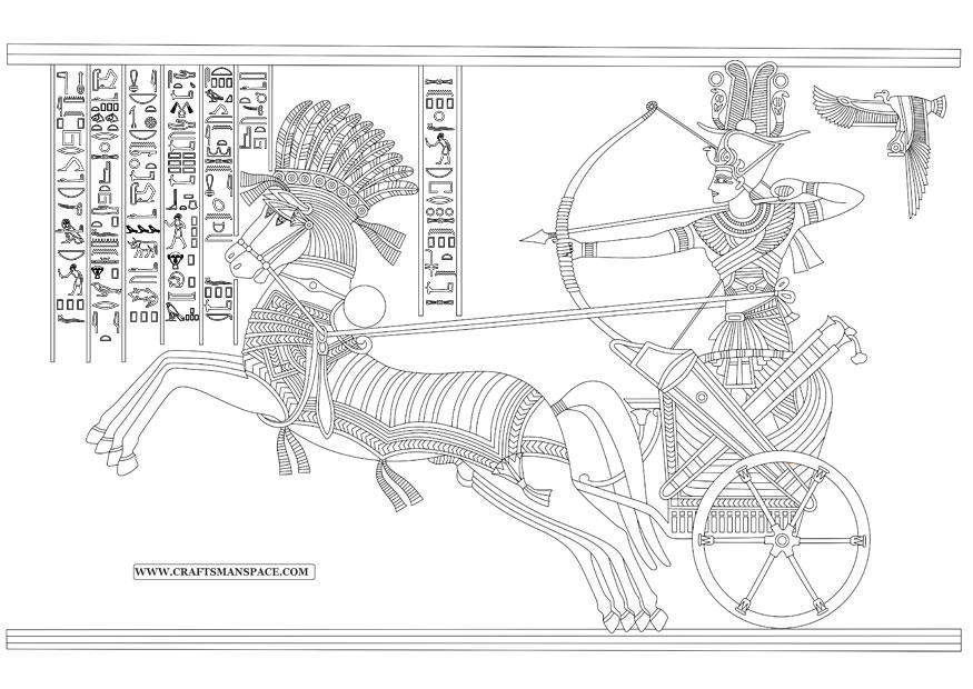 Coloring Page Ramesses Ii Battle Of Kadesh Free
