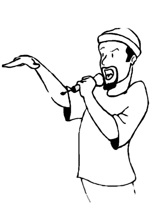 Coloring page rapper