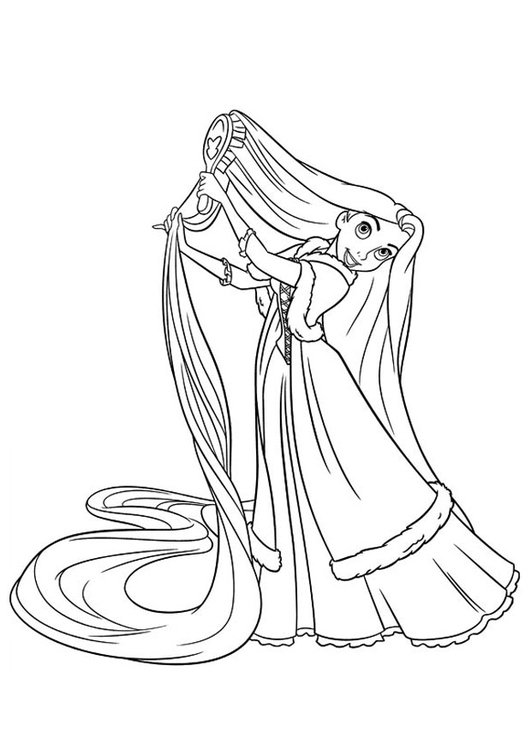 Coloring Page Rapunzel Free Printable Coloring Pages