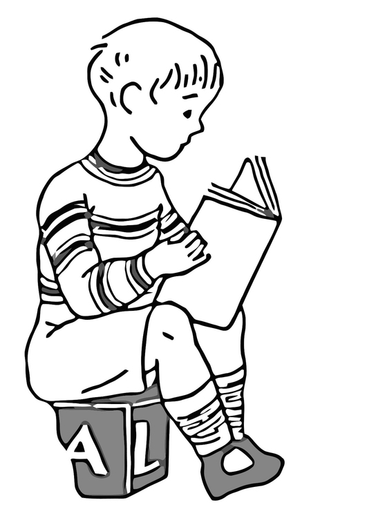 Coloring page read