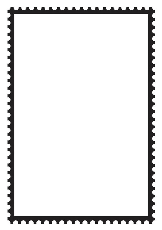 Coloring page Rectangular Postage Stamp