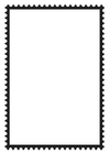 Coloring pages Rectangular Postage Stamp