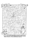 Coloring pages recue mission maze