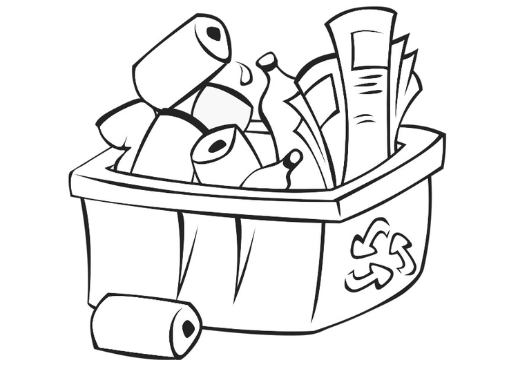 Coloring page recycle  img 21775