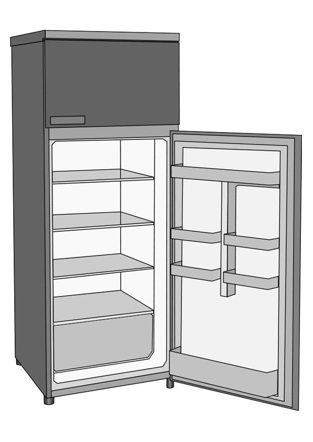 Coloring page refrigerator img 25739 for Refrigerator coloring page