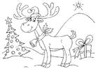 Coloring page reindeer