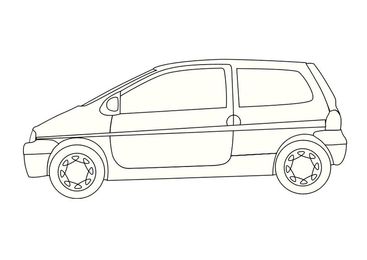 Coloring page renault twingo
