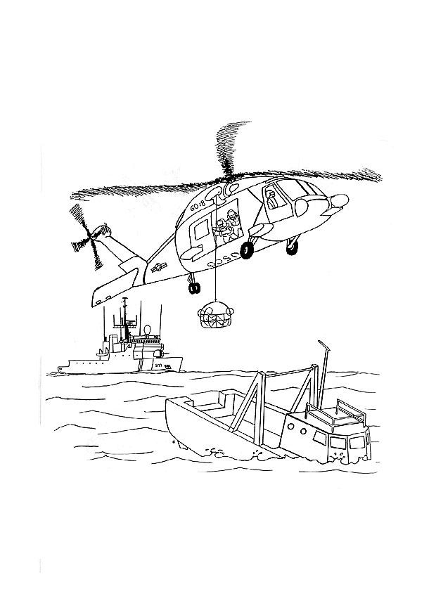 Coloring Page Rescue Mission