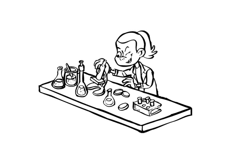 Coloring page researcher