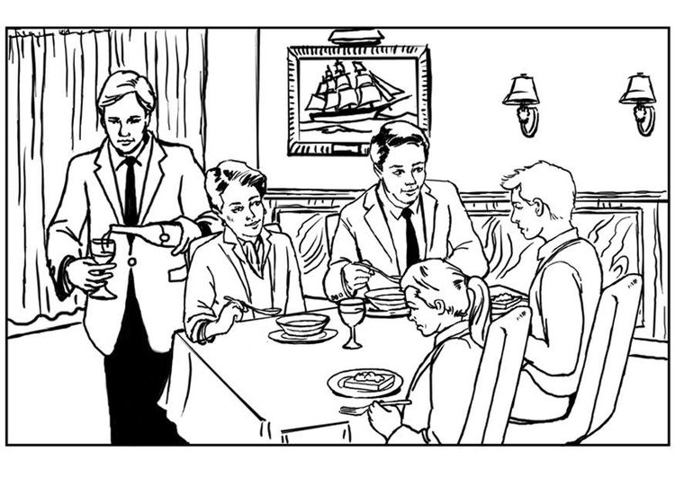 Coloring Pages For Restaurants : Coloring page restaurant img