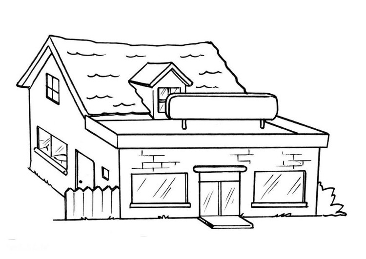 Coloring page restaurant - without text
