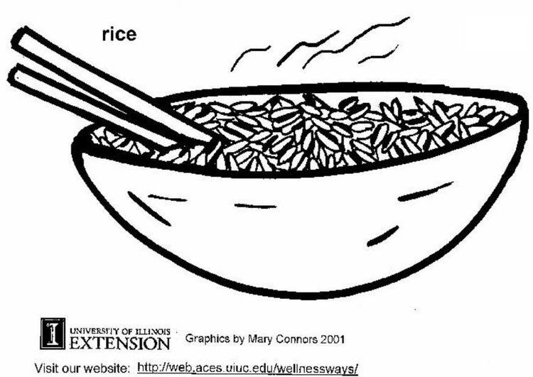 Coloring page rice