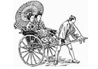 Coloring pages Rickshaw