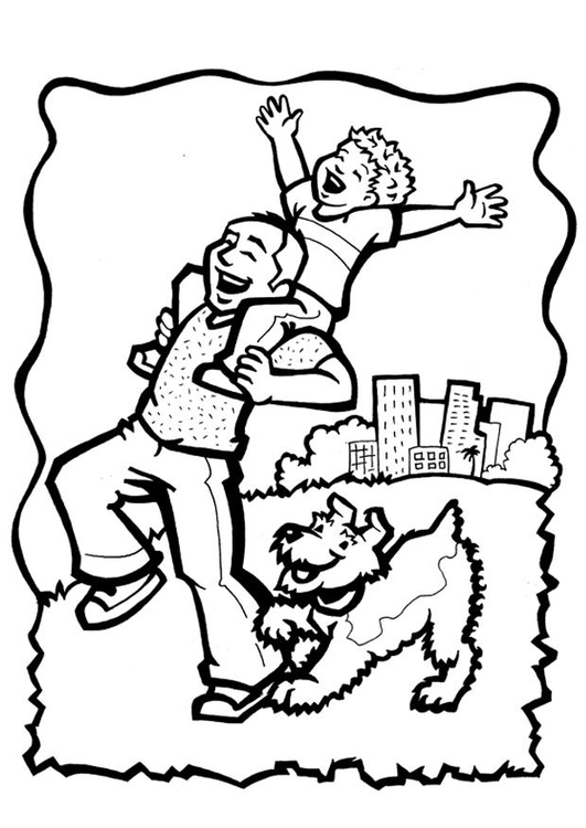 Coloring page right to care and love