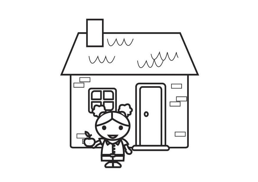 Coloring page right to clothing food and a home img