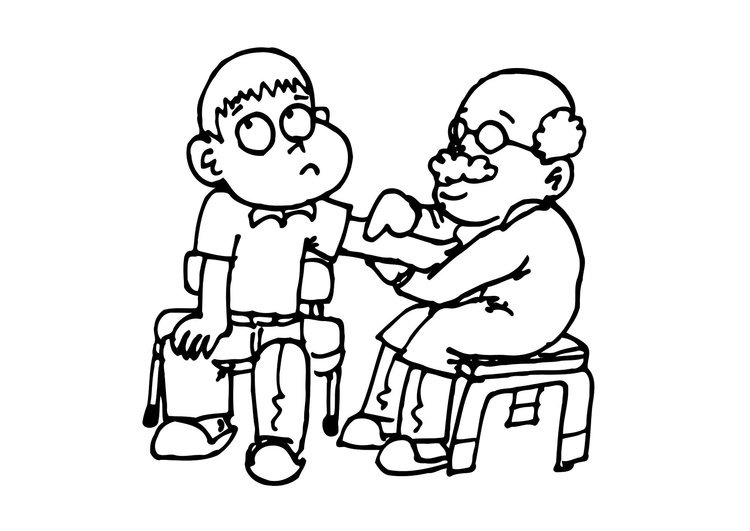 Coloring page right to personal care