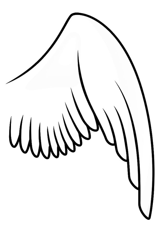 Coloring page right wing