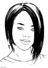 Coloring page Rihanna