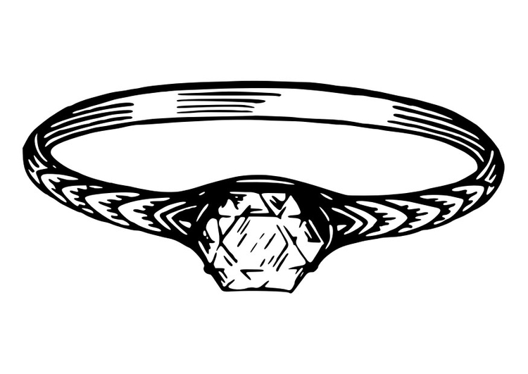 Coloring page ring