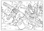 Coloring pages road to Calvary