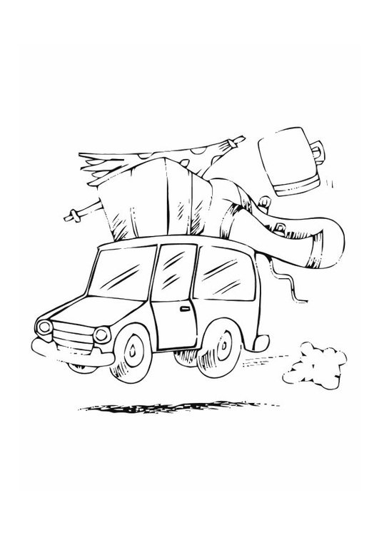 Coloring page road trip