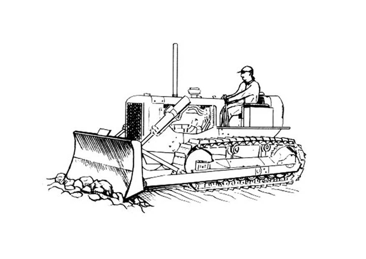 Coloring page road worker
