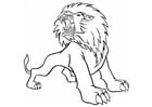 Coloring pages roaring lion