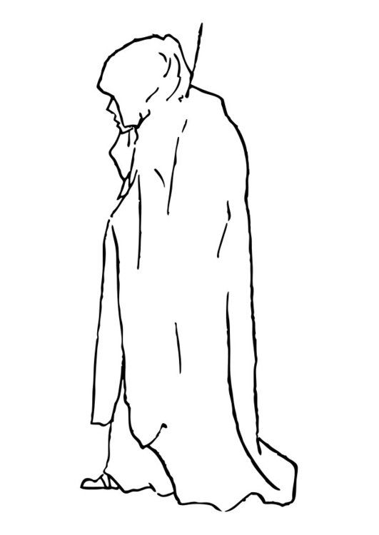 Coloring page robe