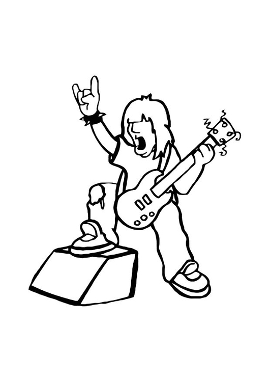 Coloring page rock star img 10751