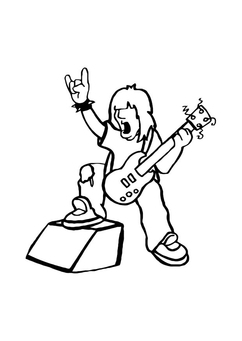 Coloring page rock star