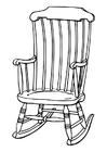 Coloring pages rocking chair