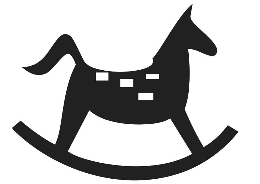Coloring page rocking horse - img 20407.