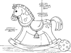 Coloring pages rocking horse