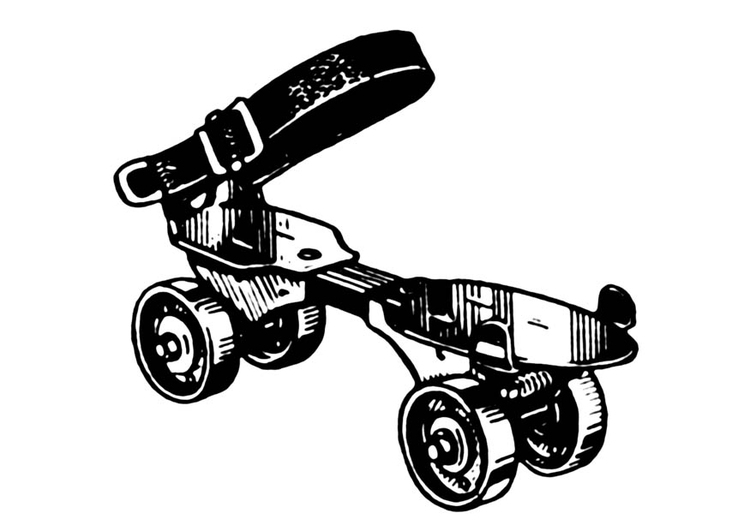 Coloring page roller skate
